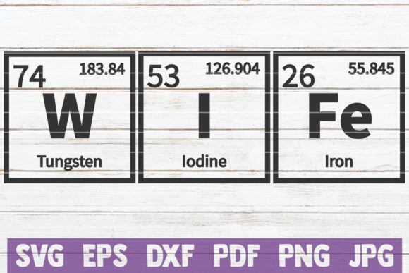 Download Free Wife Periodic Table Svg Cut File Graphic By Mintymarshmallows for Cricut Explore, Silhouette and other cutting machines.