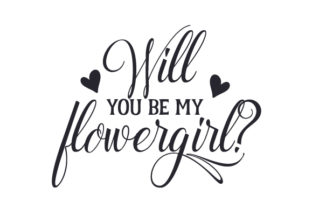 Will You Be My Flowergirl? Craft Design By Creative Fabrica Crafts