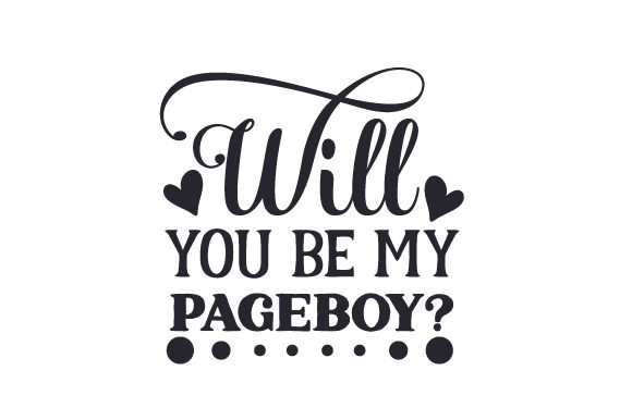 Will You Be My Pageboy? Craft Design By Creative Fabrica Crafts Image 1