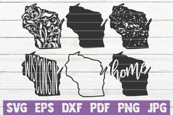 Wisconsin State SVG Bundle Graphic Graphic Templates By MintyMarshmallows