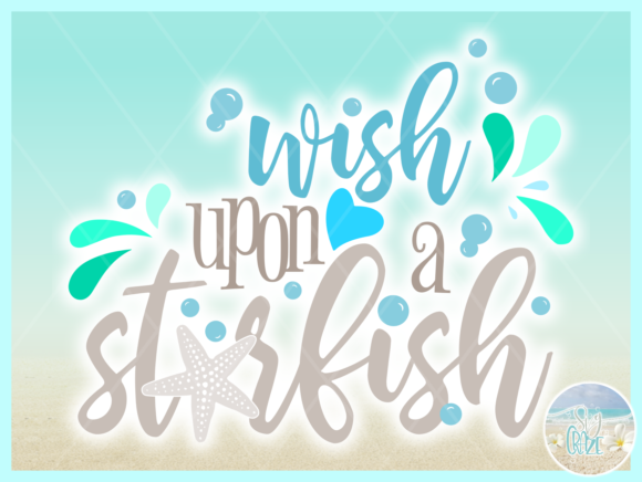 Print on Demand: Wish Upon a Star Fish Quote Graphic Crafts By SVGcraze - Image 2