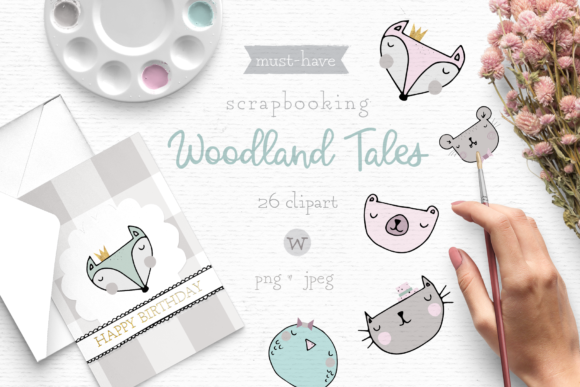 Print on Demand: Woodland Animal Clipart Gráfico Ilustraciones Por Wallifyer