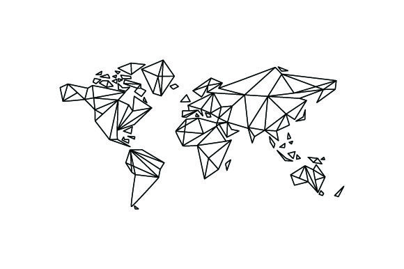 Download Free World Map With Geometric Lines Svg Cut File By Creative Fabrica for Cricut Explore, Silhouette and other cutting machines.