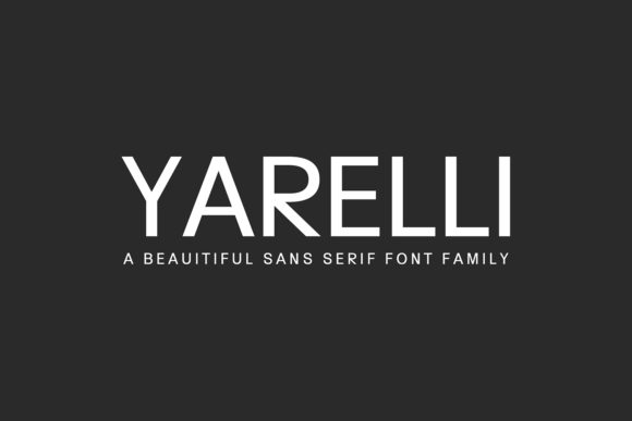 Print on Demand: Yarelli Family Sans Serif Font By Creative Tacos