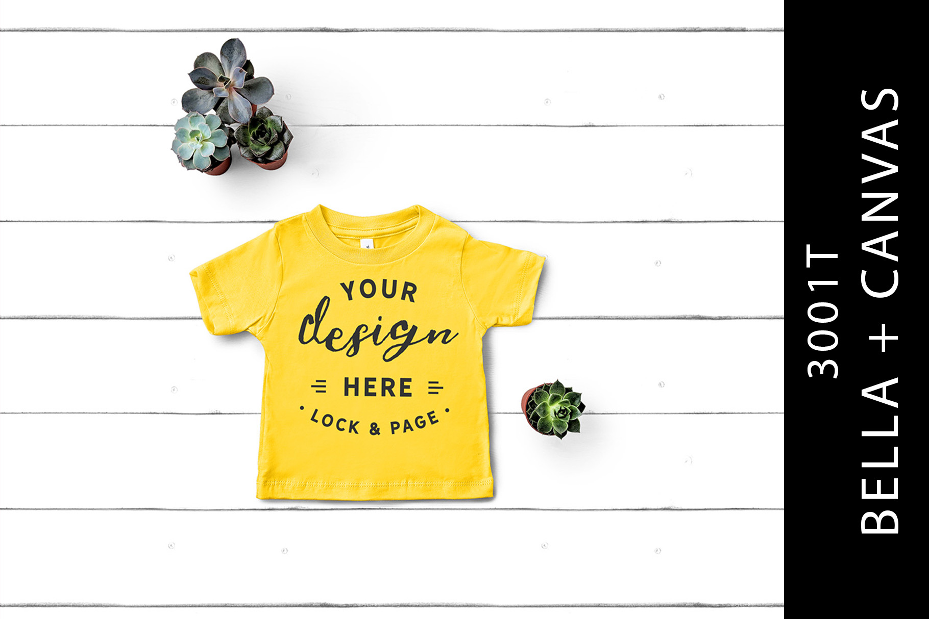 Download Free Yellow Bella Canvas 3001t Toddler Mockup Graphic By Lockandpage for Cricut Explore, Silhouette and other cutting machines.