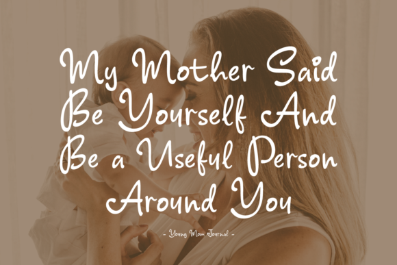 Print on Demand: Young Mom Journal Script & Handwritten Font By Keithzo (7NTypes) - Image 5