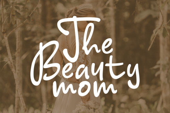 Print on Demand: Young Mom Journal Script & Handwritten Font By Keithzo (7NTypes) - Image 6
