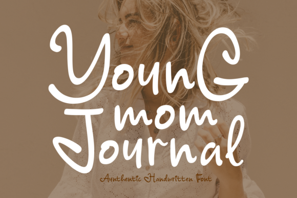 Print on Demand: Young Mom Journal Script & Handwritten Font By Keithzo (7NTypes)