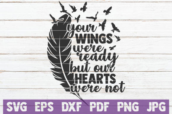 Download Free Your Wings Our Hearts Svg Cut File Graphic By Mintymarshmallows for Cricut Explore, Silhouette and other cutting machines.