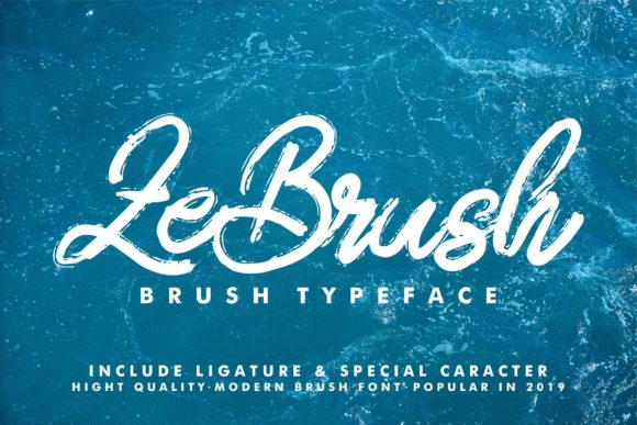 Print on Demand: ZeBrush Script & Handwritten Font By Vunira