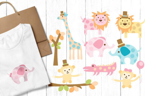 Print on Demand: Zoo Animals Graphic Illustrations By Revidevi