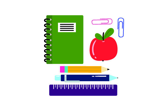 Download Free Illustrations Of Notebook Apple Pencil Pen Svg Cut File By for Cricut Explore, Silhouette and other cutting machines.