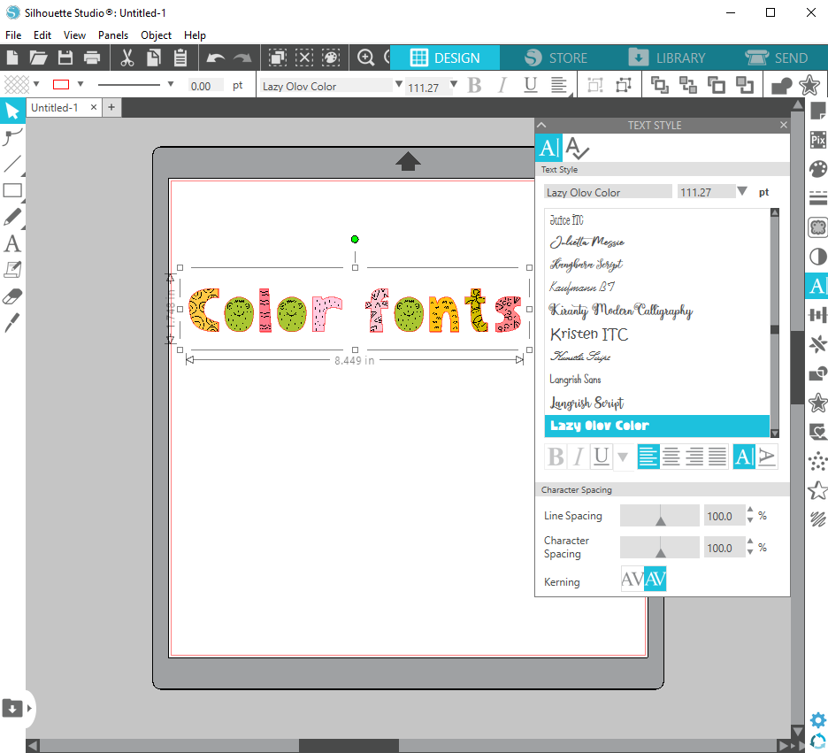 How To Use Color Fonts In Silhouette Creative Fabrica