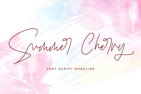 Print on Demand: Summer Cherry Serif Font By thomasaradea