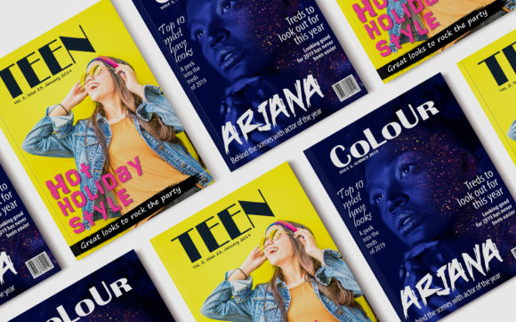 Print on Demand: 10 Fashion Magazine Template Covers Graphic Print Templates By denestudios - Image 2