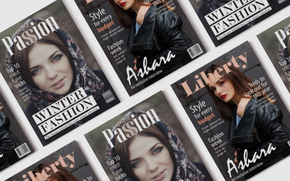 Print on Demand: 10 Fashion Magazine Template Covers Graphic Print Templates By denestudios