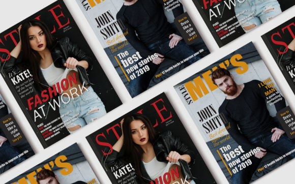 Print on Demand: 10 Fashion Magazine Template Covers Graphic Print Templates By denestudios - Image 9