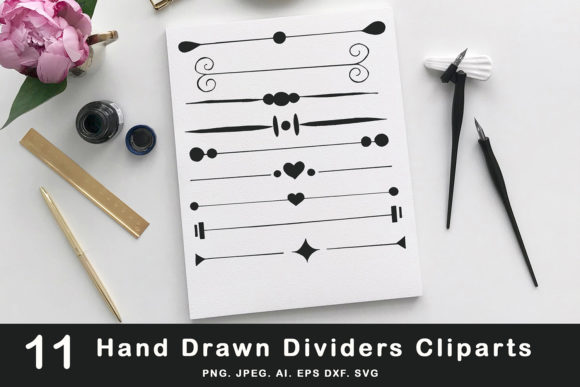 Print on Demand: 10+ Hand Drawn Dividers Cliparts Graphic Illustrations By Creative Tacos