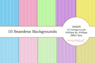 10 Seamless Backgrounds Graphic By Kristy Hatswell