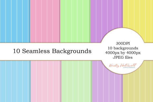 10 Seamless Backgrounds Graphic Backgrounds By Kristy Hatswell