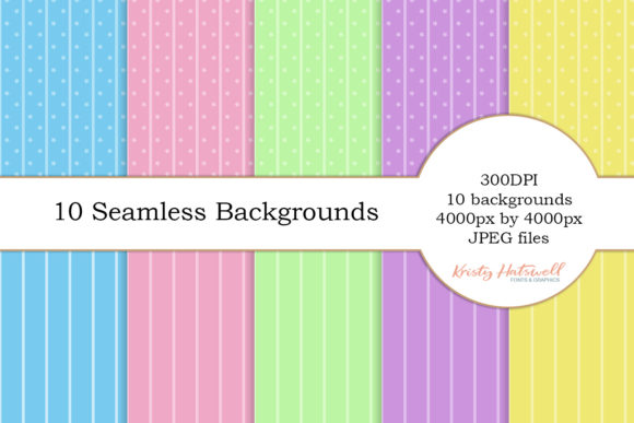 10 Seamless Backgrounds Gráfico Fondos Por Kristy Hatswell