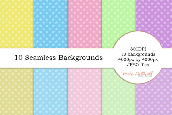 10 Seamless Star Backgrounds Graphic Backgrounds By Kristy Hatswell