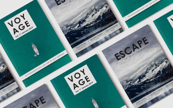 Print on Demand: 10 Travel Magazine Front Covers Graphic Print Templates By denestudios