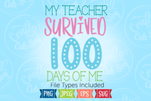 100 Days of School Graphic By Crafty Cuts SVG