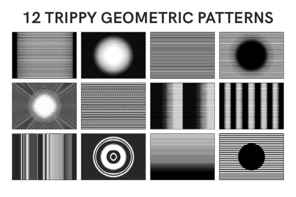 Print on Demand: 12 Trippy Geometric Patterns Graphic Patterns By Frattaglia