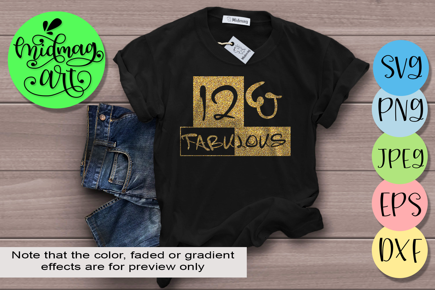 Download Free 12 And Fabulous Svg 12th Birthday Svg Graphic By Midmagart for Cricut Explore, Silhouette and other cutting machines.