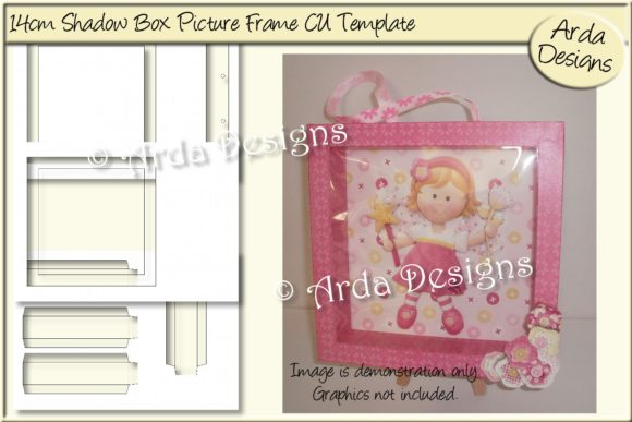 Print on Demand: 14cm Shadowbox Picture Frame CU Template Graphic Print Templates By Arda Designs