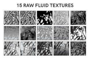 Download Free 15 Raw Fluid Textures Graphic By Frattaglia Creative Fabrica for Cricut Explore, Silhouette and other cutting machines.
