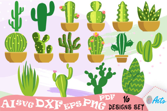 16 Cactus Vector Art Designs Graphic Illustrations By DigitEMB