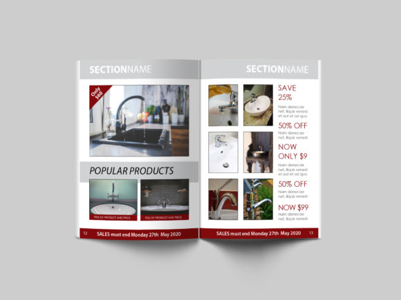 Print on Demand: 16 Page Sales Brochure Template Graphic Print Templates By denestudios - Image 7