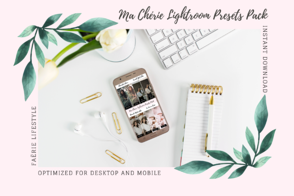 Print on Demand: Ma Chérie Lightroom Presets Pack Graphic Actions & Presets By Faërie Lifestyle