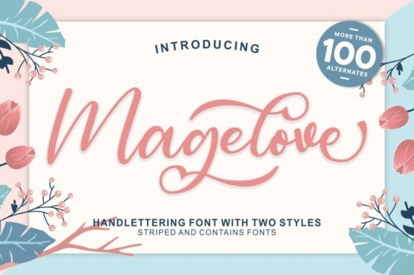 Print on Demand: Magelove Script & Handwritten Font By Garisman Studio