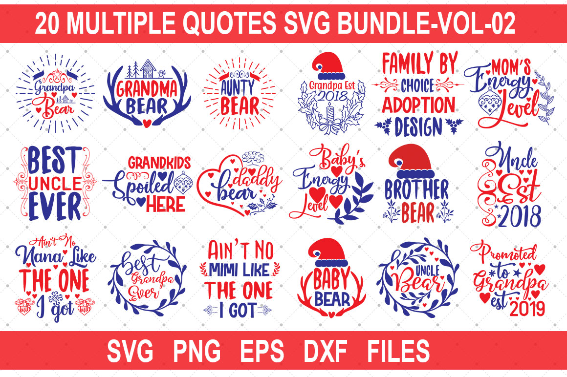 Download Free 20 Multiple Quotes Bundle Vol 02 Graphic By Graphicsqueen for Cricut Explore, Silhouette and other cutting machines.