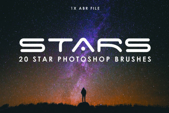 Print on Demand: 20 Star Photoshop Brushes Gráfico Pinceles Por denestudios