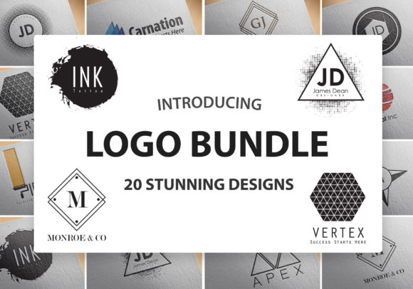 Print on Demand: 20 Stunning Logo Design Templates Graphic Logos By denestudios