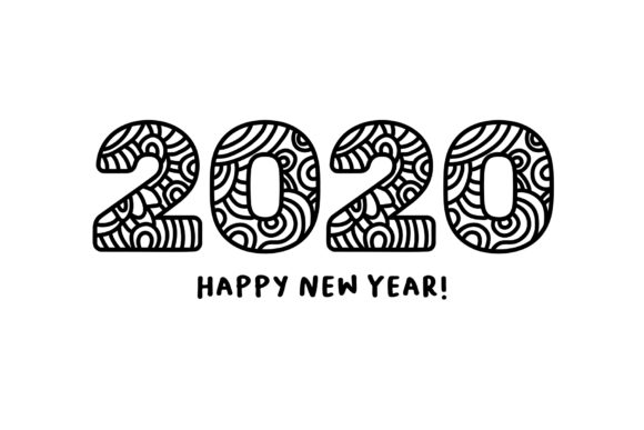 Happy New Year Font 88