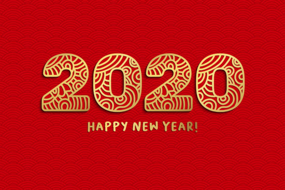 2020 New Year Numbers Illustrations Graphic Item