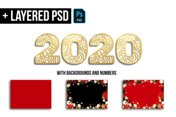 2020 New Year Numbers Illustrations Graphic Preview