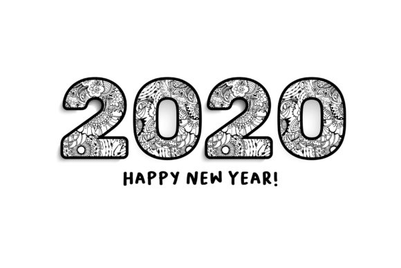 2020 New Year Numbers Illustrations Graphic Image