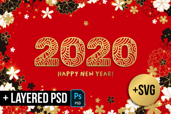 2020 New Year Numbers Illustrations Graphic Illustrations By ilonitta.r