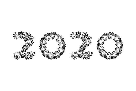 2020 New Year Numbers Illustrations Graphic Design Item