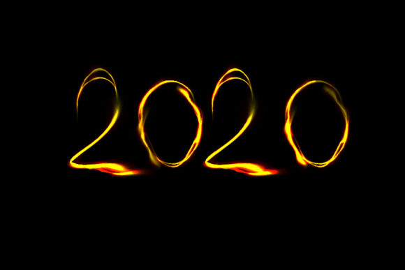 2020 New Year Numbers Illustrations Graphic Downloadable Digital File