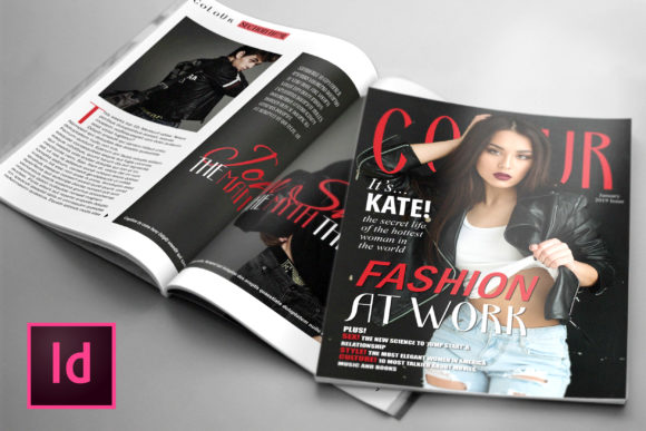 Print on Demand: 24 Page Fashion Magazine Template Graphic Print Templates By denestudios
