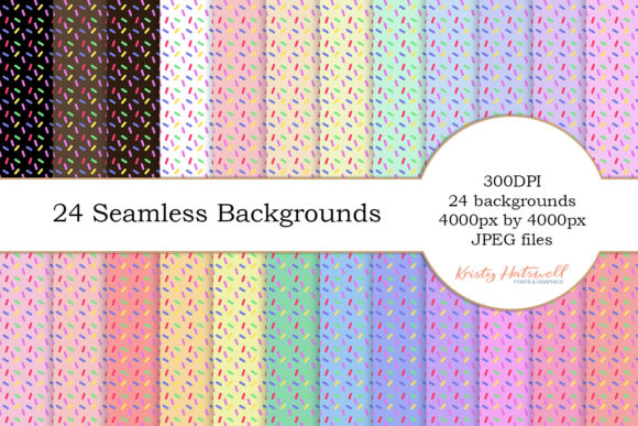 24 Seamless Sprinkles Backgrounds Graphic Backgrounds By Kristy Hatswell