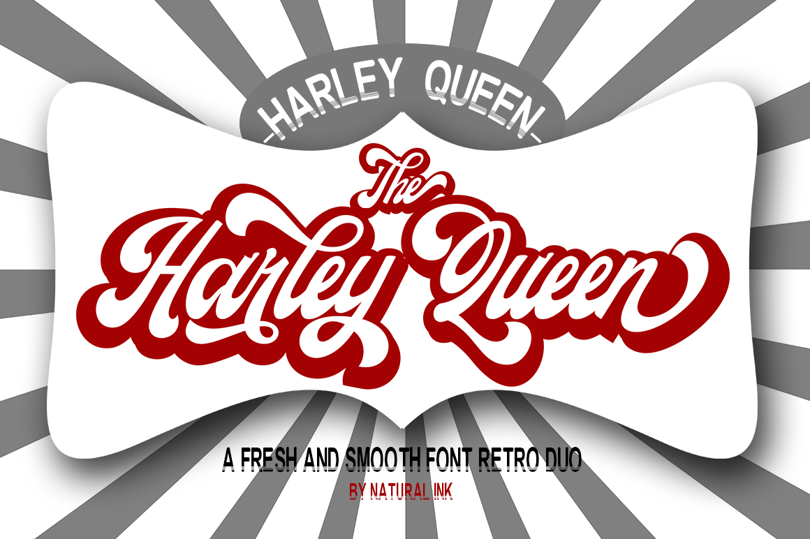 Download Free Harley Queen Font By Natural Ink Creative Fabrica for Cricut Explore, Silhouette and other cutting machines.
