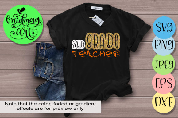 Download Free 2nd Grade Teacher Svg Back To School Graphic By Midmagart for Cricut Explore, Silhouette and other cutting machines.